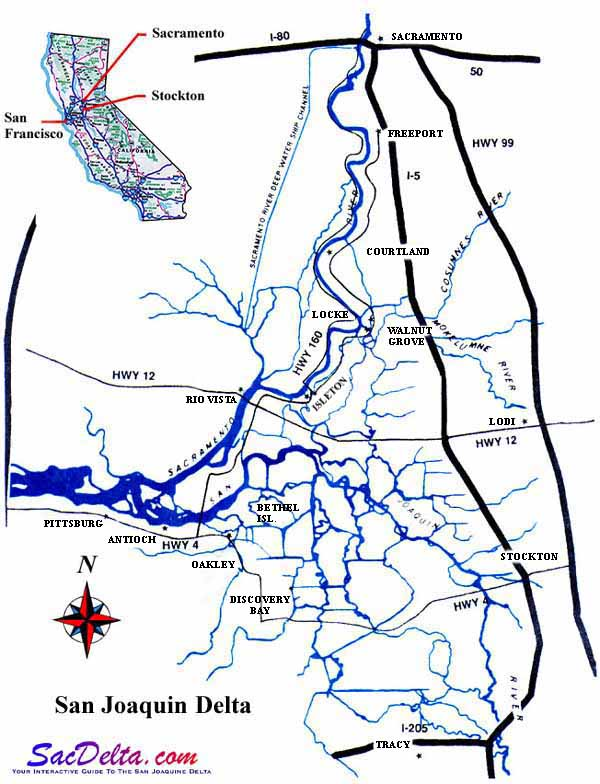 Map Of San Joaquin Delta